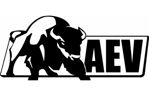 AEV Logo Sticker, Black or White