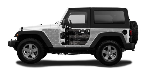 Half-Door Jeep Wraps Magnetic Armor Kit by MEK Magnet (07-18 Jeep Wrangler JK, 2 Door)