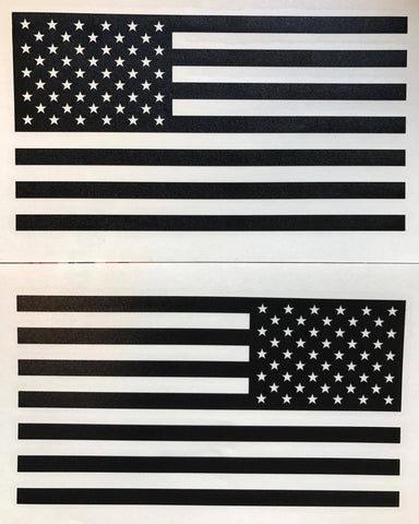 American Flag Tactical Vinyl Decals, Set of 2
