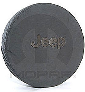Jeep Anti-Theft Tire Cover Black w/Gray Logo (LT30x9.5x15, P235/70R16)