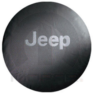 Jeep Anti-Theft Tire Cover, Black w/Black or Dk Gray Logo (P255/75/16, LT255/75R18, P255/70R18)