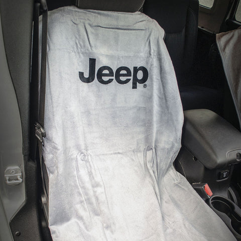 Jeep Seat Towel Gray with Jeep Logo