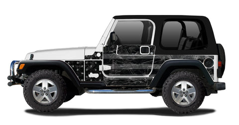 Half-Door Jeep Wraps Magnetic Armor Kit by MEK Magnet (97-06 Jeep Wrangler TJ 2 Door)