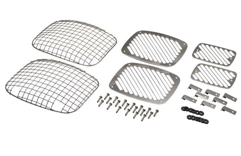 Billet & Wire Mesh Set, 6 pieces by Kentrol ('87-'95 Wrangler YJ)