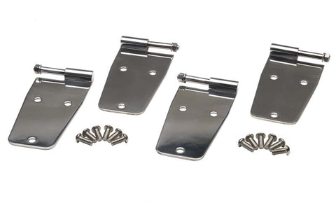 Hardtop Door Hinge Set w/o mirror holes, 4 pieces by Kentrol ('76-'93 Wrangler CJ, YJ)