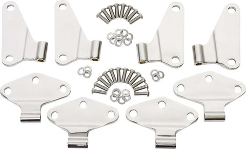 Body Door Hinge Set, 8 pieces, 4 Door by Kentrol ('07-'18 Wrangler JK)