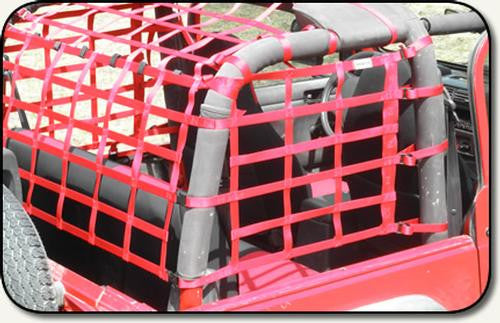 One Piece Wraparound Net by Aspen Manufacturing ('92 - '96 Wrangler YJ, '97 - '07 Wrangler TJ) - Jeep World
