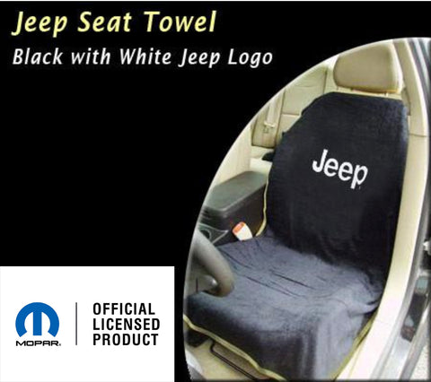 Jeep Seat Towel Black with US Navy Logo (Universal)