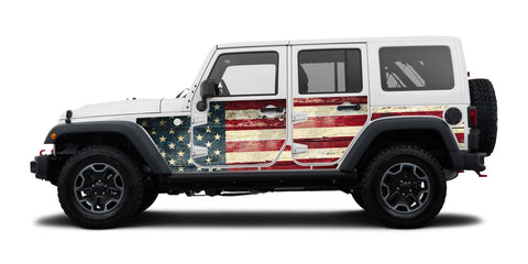 Jeep Wraps Magnetic Armor Kit by MEK Magnet ('07-'18 Jeep Wrangler JKU 4 Door)