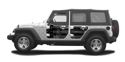 Half-Door Jeep Wraps Magnetic Armor Kit by MEK Magnet (07-18 Jeep Wrangler JKU 4-door)