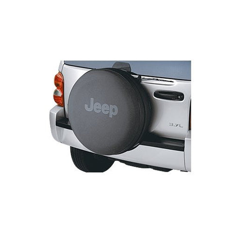 Jeep Anti-Theft Tire Cover, Black w/Black Logo (Wrangler CJ, YJ, TJ, & JK)