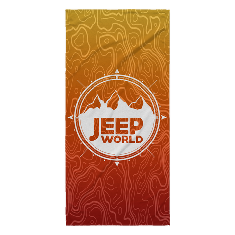 Jeep World Ombre Beach Towels