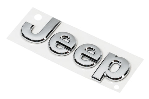 Chrome Jeep® Replacement Badge by Mopar (Universal)