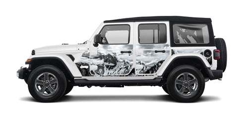 Jeep Wraps Magnetic Armor Kit by MEK Magnet (2018+ Wrangler JLU)