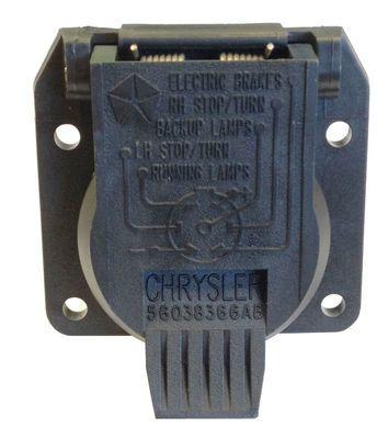 7-way Trailer Tow Connector by Mopar ('98-'01 Cherokee XJ, '99-'10 Grand Cherokee WJ, WK, '02-'07 Liberty KK, '06-'10 Commander XK, '07-'18 Wrangler JK)