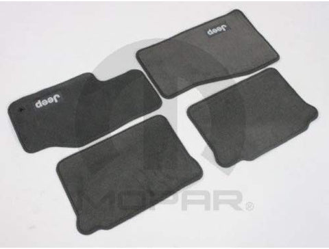 Carpet Floor Mat Set, Medium Slate Grey ('05-'07 Grand Cherokee WK)