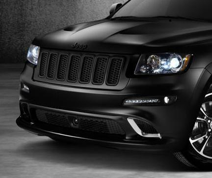 Brilliant Black Vapor & Alpine SRT8 Grille by Mopar ('13 Grand Cherokee WK2)