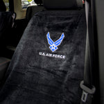 Jeep Seat Towel Black with US Air Force Logo (Universal)