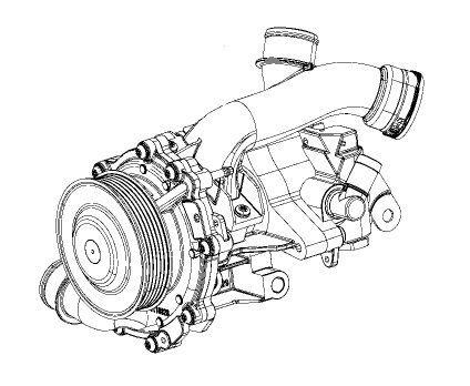 2.2L Water Pump And Power Steering Pump Assembly For Jeep
