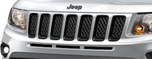Altitude Compass Gloss Black Grille Rings by Mopar ('12-'18 Compass MK)