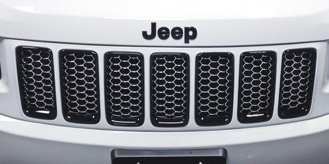 Platinum Honeycomb Grille Inserts by Mopar ('14-'16 Grand Cherokee WK2)