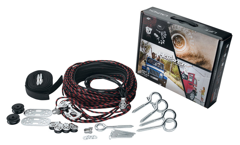 Hard Top Hoist Kit by Harken (1987+ Wrangler YJ/TJ/JK/JL, 2020+ Gladiator JT)