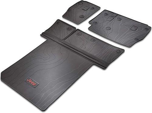 All-Weather Slush Mat Set, Black by Mopar (2018+ Wrangler JLU 4-Door)