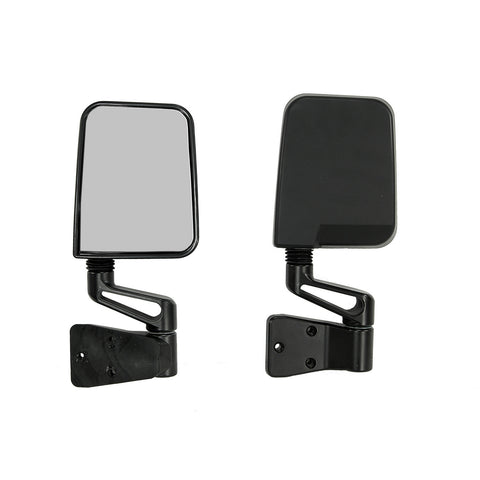 Mirror Pair Black by Rugged Ridge ('87-'02 Jeep Wrangler YJ, TJ)