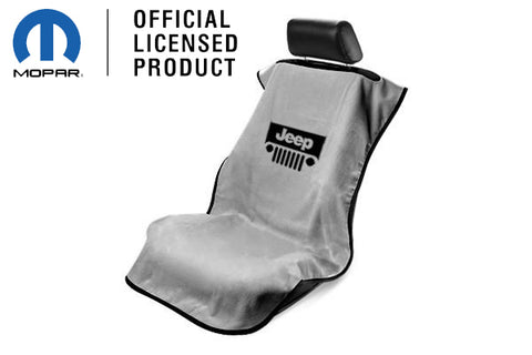 Jeep Seat Towel Gray with Jeep Grille Logo (Universal)