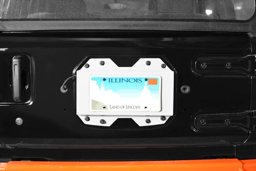 Rear License Plate Relocator by Steinjager - (2018+ Wrangler JL)
