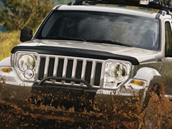 Mopar Molded Bug Deflector, with Jeep Logo ('08-'12 Liberty KK)