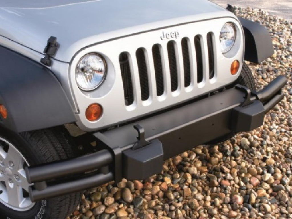 Mopar Tubular Bumper, Front, Satin Black ('07-'18 Wrangler JK) - Jeep World