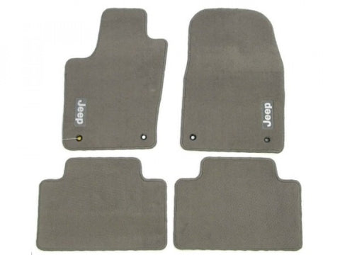 Mopar Carpet Mat Set, Medium Graystone, ('11-'12 Grand Cherokee WK2)