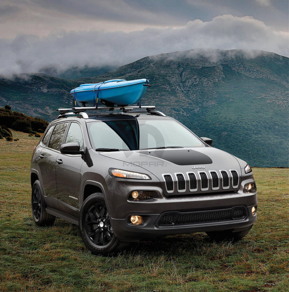 Jeep Cherokee Hood Decal Matte Black Finish 2014 18