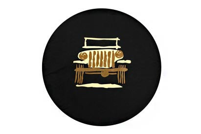 Mopar Jeep Wrangler Cartooned Tire Cover (Wrangler CJ, YJ, TJ, & JK)
