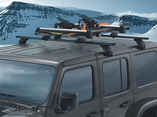 Roof Rack and Crossbars by Mopar (2020+ Gladiator JT, 2018+ Wrangler JL)