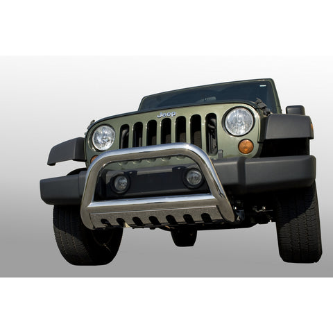 Bull Bar, 3 Inch, Stainless Steel by Rugged Ridge ('07-'09 Jeep Wrangler JK)