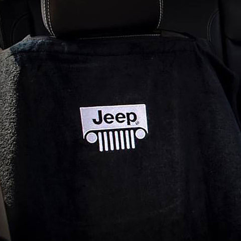 Jeep Seat Towel Black with Grille Logo