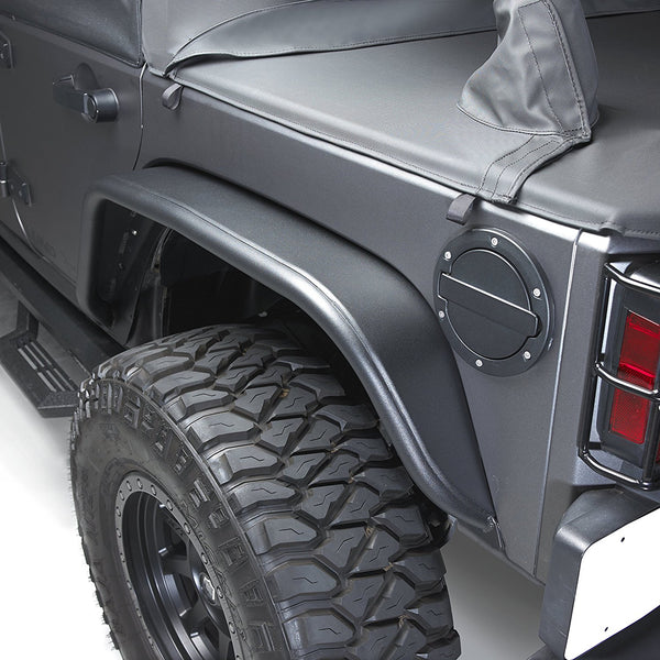 Aluminum Fender Flares Set Of 4 Black For Wrangler Jk