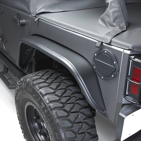 Aluminum Fender Flares, Set of 4, Black by Bushwacker ('07-'18 Wrangler JK)
