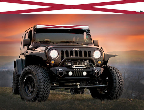 Alabama State Flag Light Bar Insert by Aerox Industries (Universal)