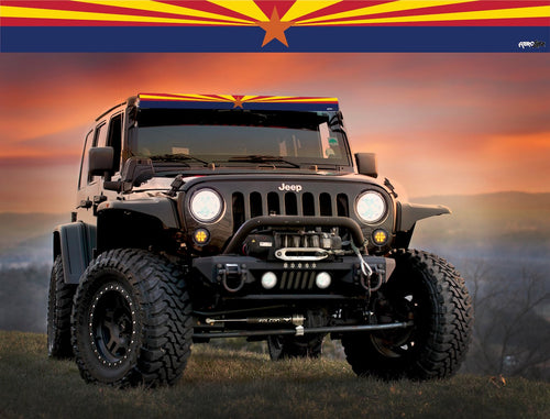 Arizona State Flag Light Bar Insert by Aerox Industries (Universal)