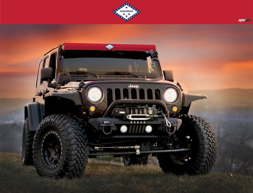 Arkansas State Flag Light Bar Insert by Aerox Industries (Universal)