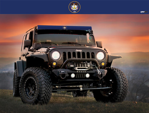 Utah State Flag Light Bar Insert by Aerox Industries (Universal)