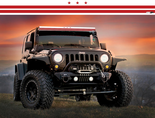 Washington State Flag Light Bar Insert by Aerox Industries (Universal)