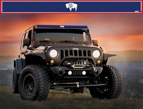 Wyoming State Flag Light Bar Insert by Aerox Industries (Universal)