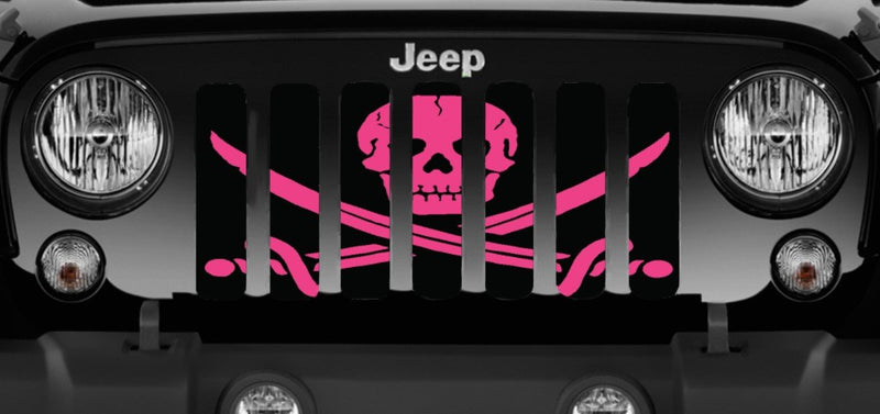 """Ahoy Matey Hot Pink"" Grille Insert by Dirty Acres"