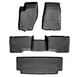 WeatherTech DigitalFit All Weather Mats, 2nd Row, Black ('06-'10 Commander XK)