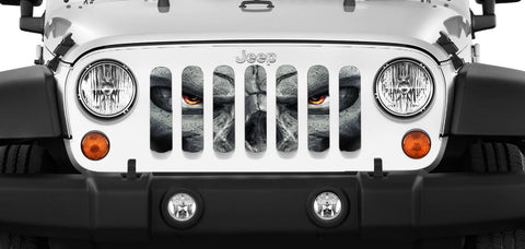 Full Sunshade, Red Punisher Skull by Alien Sunshade ('07-'18 Wrangler JKU 4 Door)
