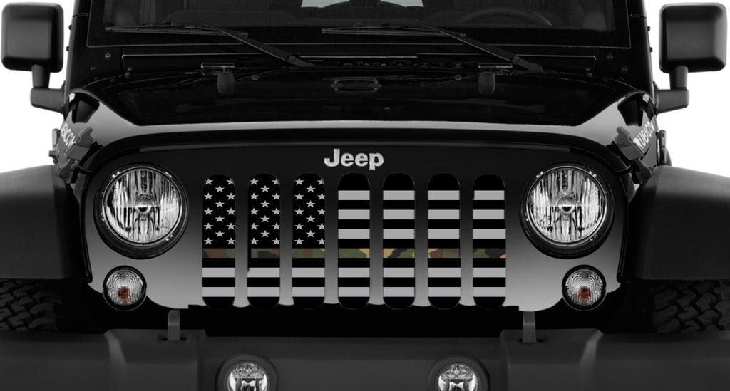 Quot American Flag Tactical Woodland Camo Quot Grille Insert From